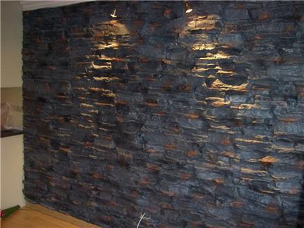 دیوارپوش فایبرگلاس طرح سنگ آجر چوب